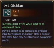 Obsidian lvl1