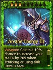 Cards Arcane Energy III Art