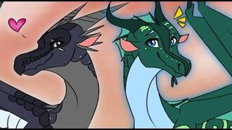 Darkstalker and Fathom Pose, Wings of Fire Short