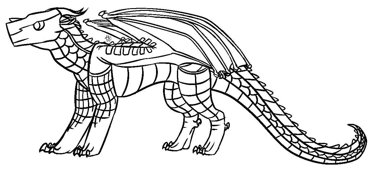 Image - Mudwing base lineart(by TreeDragon).png   Wings of ...