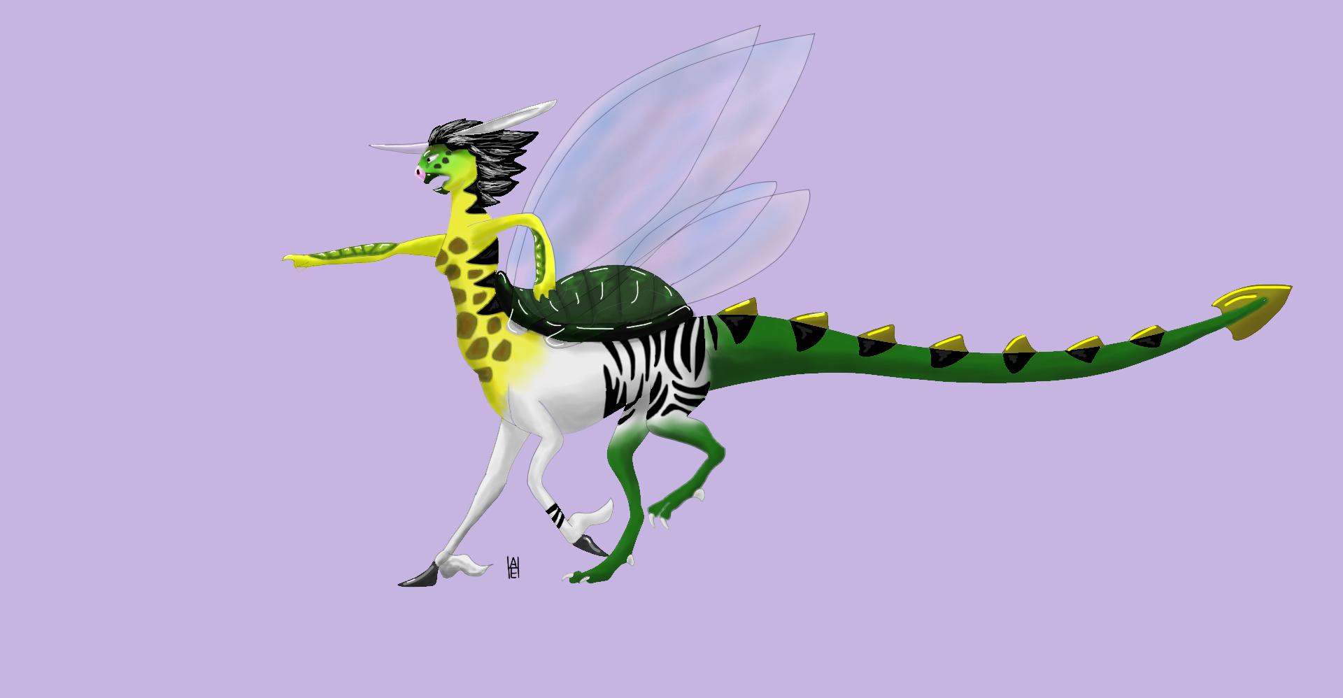image unicorn turtle dragon fairy centaur body1 png wings of