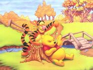 Pooh Wallpaper - Pooh and Tigger in Fall
