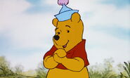 Winnie the Pooh is happy he's in Tigger's story