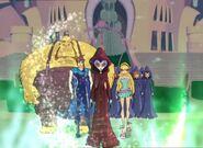Griffin, Knut, Brandon, Stella, Witches - Battle for Magix (1)