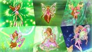 Winx Club - Flora All Full Transformations up to Tynix! HD!