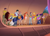 Andy and his band helping the Winx