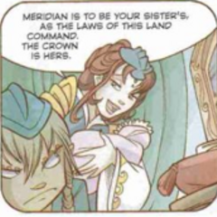 A young Phobos with the Queen and his baby sister, Elyon