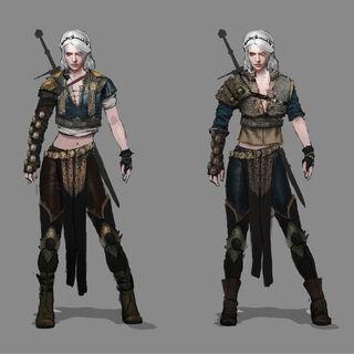 Early ideas for Ciri's alternate costume.