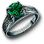 Tw3 silver emerald ring