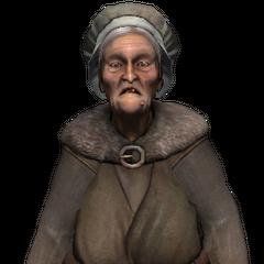 Old peasant woman.