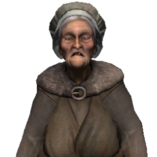 Old peasant woman.