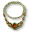 Tw3 green gold amber necklace