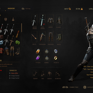 Pre-release version of inventory screen