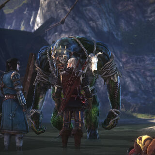 Geralt and Roche meet the She-troll (Roche path)