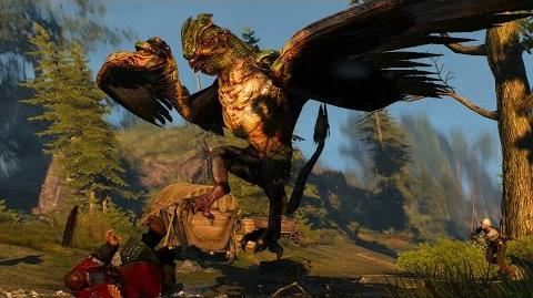 The Witcher 3 Basilisk Boss Fight (Hard Mode)
