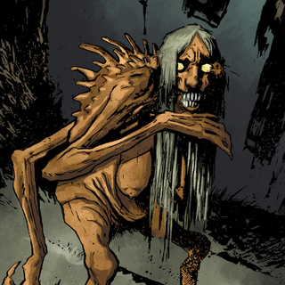 Grave hag in comics The Witcher: House of Glass