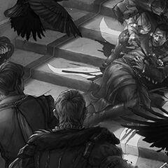 The Death of Emhyr (flashback).