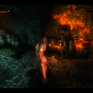 Aryan Setting Fire in the Dungeons