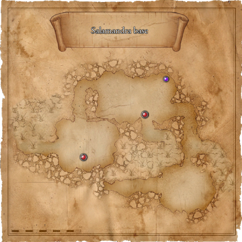 Map of the first level of the Salamandra Base