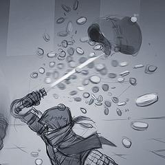 Second concept art fighting Geralt