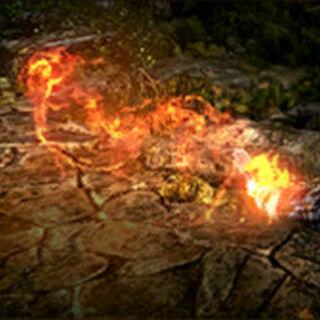 Znak Igni w grze Wiedźmin 2: Zabójcy Królów