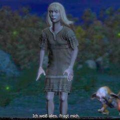 During a dialogue cutscene