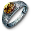 Tw3 silver amber ring