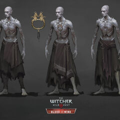 Concept arts, middle one is the final version.