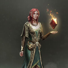 Triss concept art for alternative outfit in <i>The Witcher 3</i>