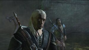 Scenes Geralt and Yaevinn face zeugl