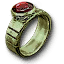 Tw3 green gold ruby ring