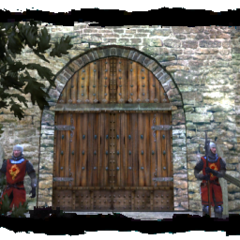 the gate to Old Vizima