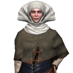 Not-so-old peasant woman.