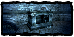 Places Crumbling sarcophagus