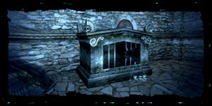 Sarcofago in rovina