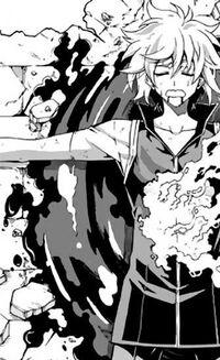 Tasha in his blood pool sighing