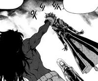 Surtr grabbing Tasha's head