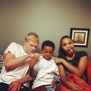 Jazzy and Ryan pointing at Jailen