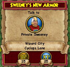 Sweeney's New Armor