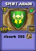 Spirit Armor Item Card