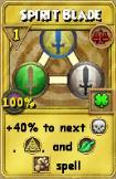 Spirit Blade Treasure Card