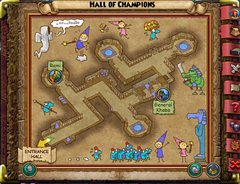 Hall of Champions Map