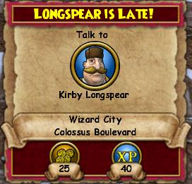 Longspear Is Late!