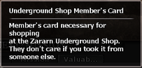 Underground Shop Members Card2