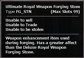 Ultimate royal weapon forging stone2