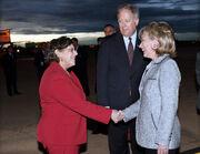 Secretary Clinton Greets Deputy Chief Lisa Kubiske