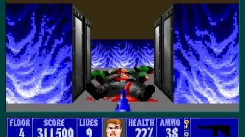 Spear Of Destiny 3 - Ultimate Challange - Floor 4 (Upper Bunker Area 4) Part 2