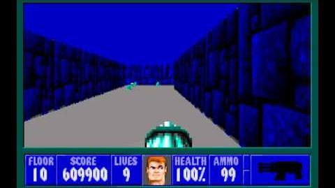 Wolfenstein 3D (id Software) (1992) Episode 3 - Die, Fuhrer, Die! - Floor 10 HD