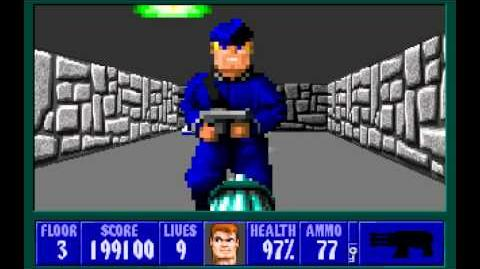 Wolfenstein 3D (id Software) (1992) Episode 6 - Confrontation - Floor 3 HD