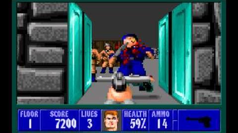 Wolfenstein 3D (id Software) (1992) Episode 3 - Die, Fuhrer, Die! - Floor 1 HD
